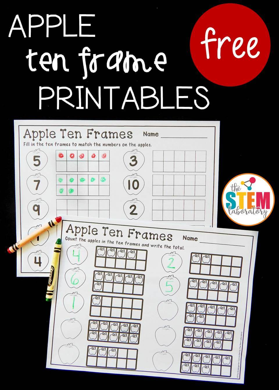 apple ten frames pin