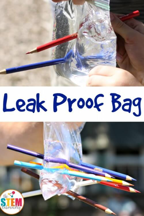 Once you learn the science behind the leak proof bag you'll be ready to poke holes in a bag full of water while holding it over somebody's head!