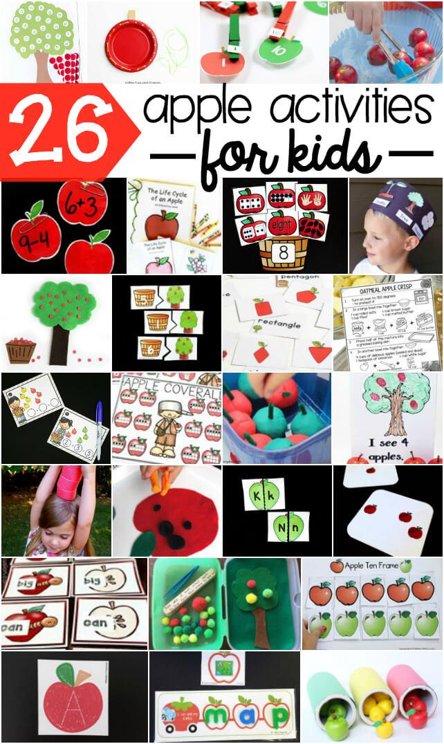 26 apple activities for kids!