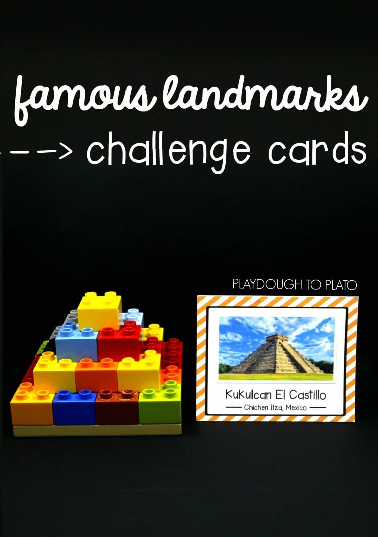 Awesome STEM challenge! Build famous landmarks from around the world.