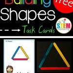 STEM Challenge: Building Shapes Task Cards