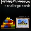 Famous landmarks STEM challenge cards for kids!
