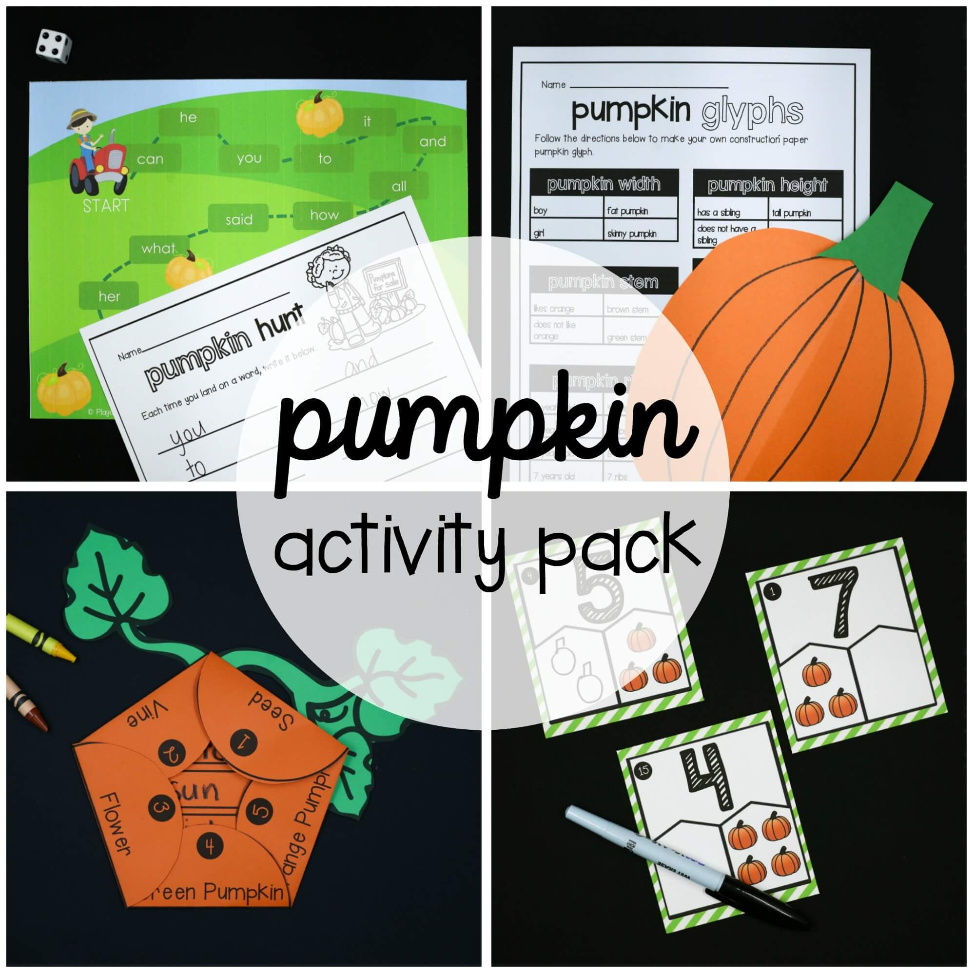 Pumpkin Activity Pack – First Grade
