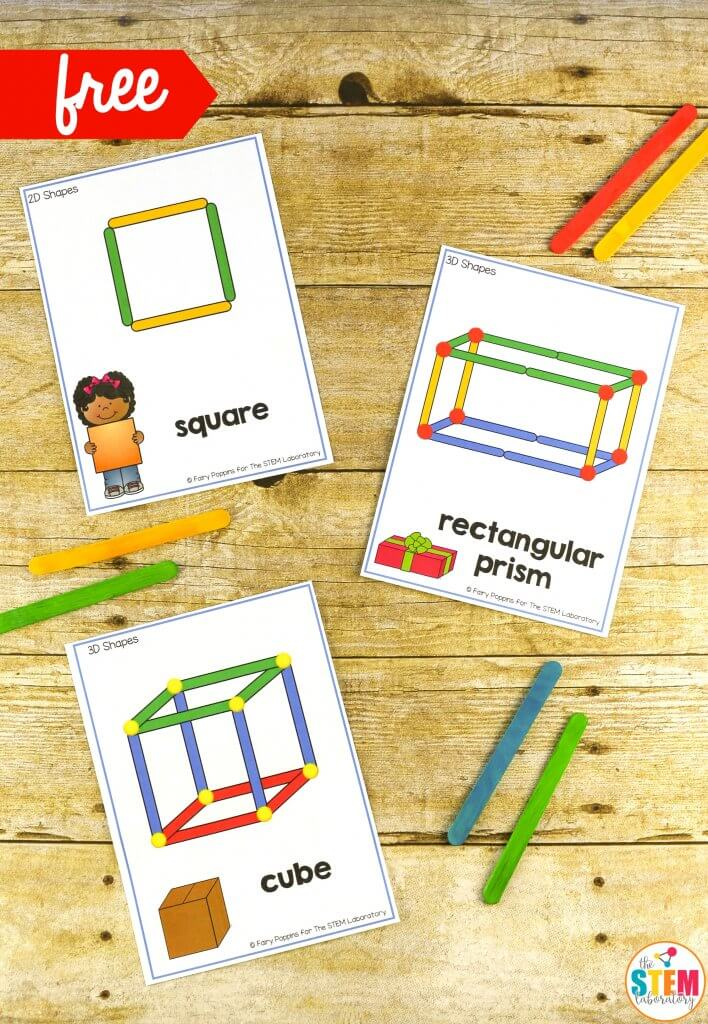 Building shapes stem cards the stem laboratory for Build house online 3d free