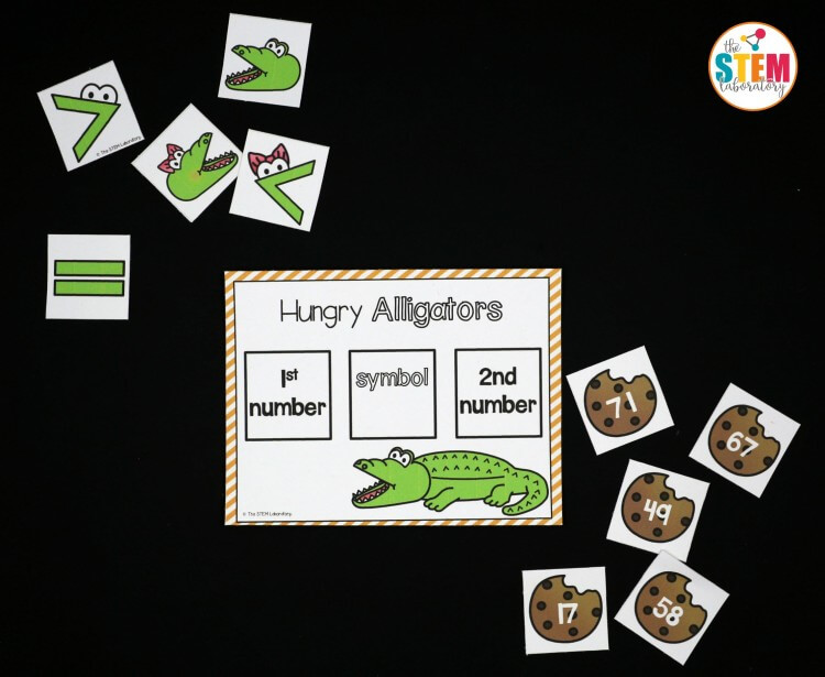 Three Digit Addition Worksheet Excel Greater Than Less Than Alligators  The Stem Laboratory 7th Grade Expressions And Equations Worksheets Word with Easy Music Worksheets Pdf Free Greater Than Less Than Alligators Endocrine Worksheet