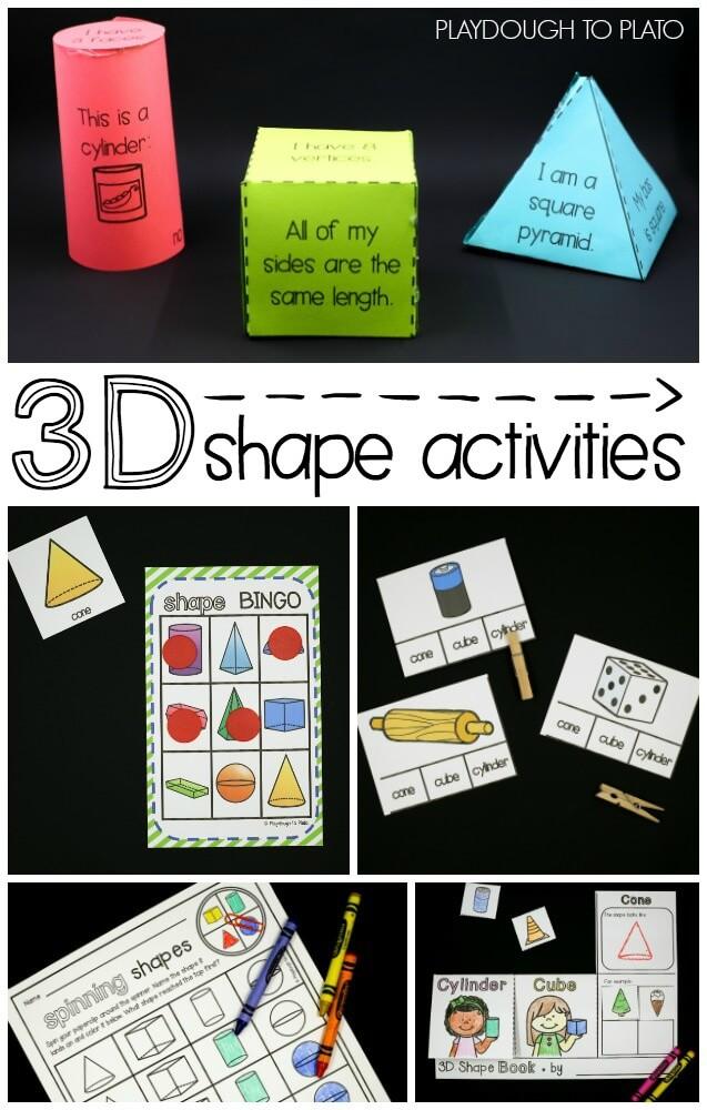 3D Shape Activity Pack - The Stem Laboratory