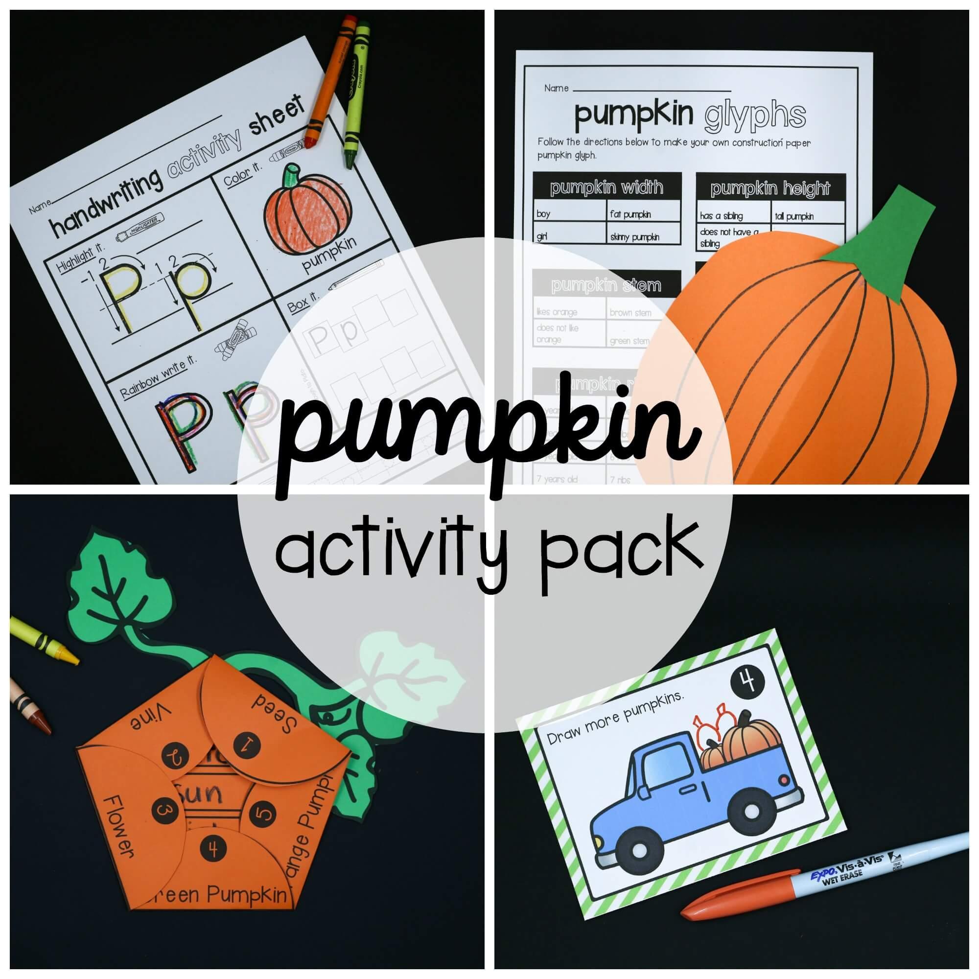 Pumpkin Activity Pack Preschool And Kindergarten The Stem Laboratory