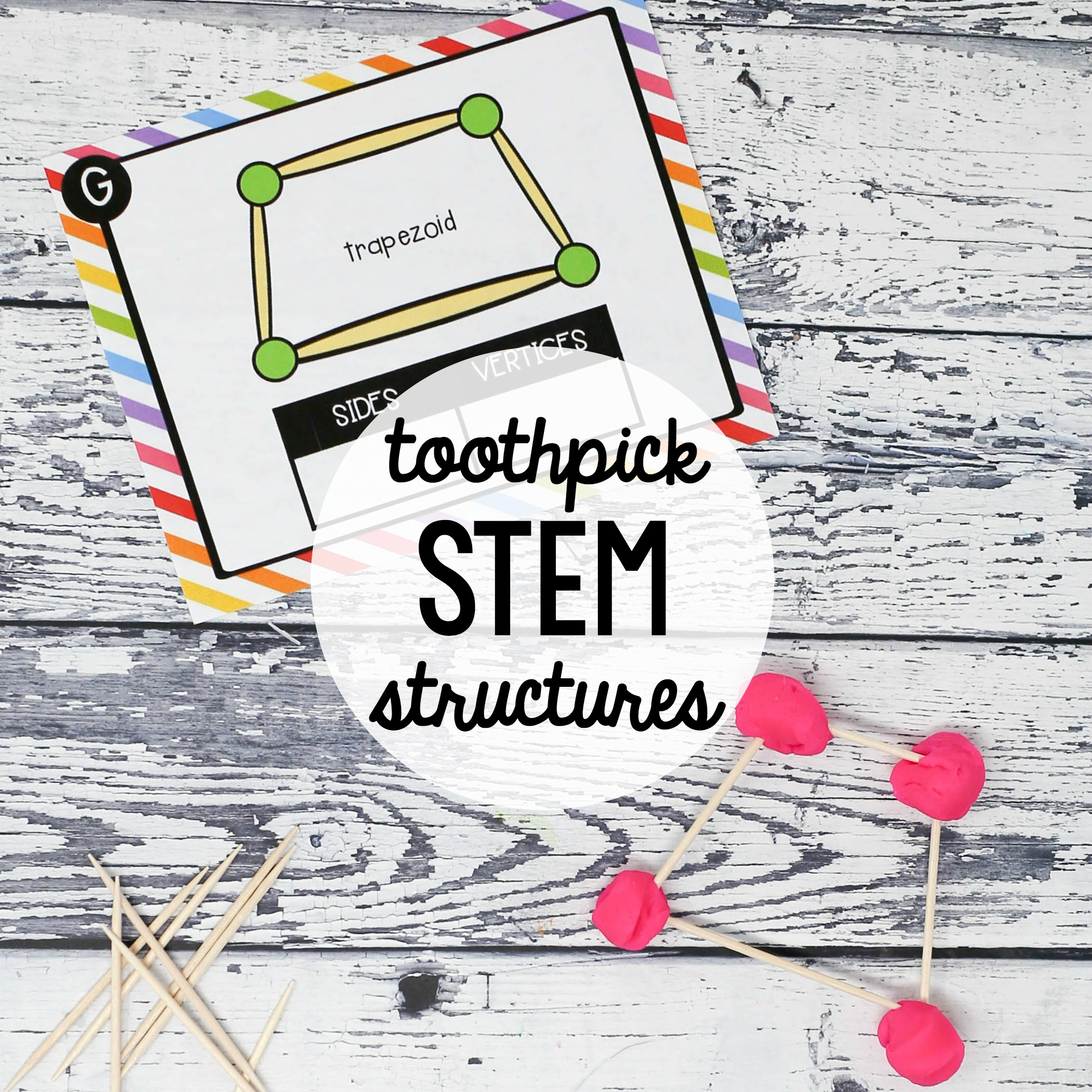 graphic about Building With Toothpicks and Marshmallows Printable called Toothpick STEM Constructions