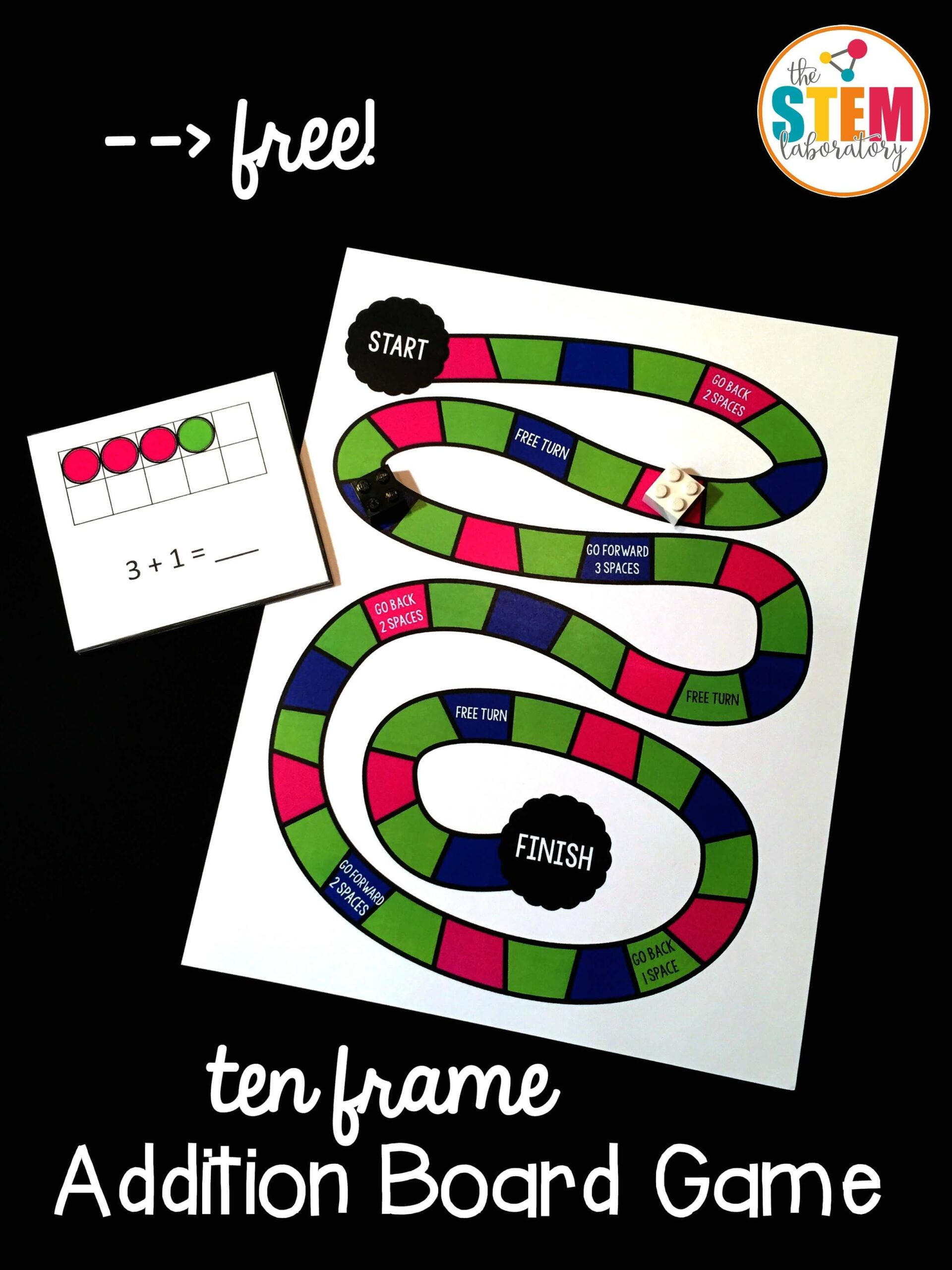 Ten Frame Addition Board Game