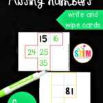 Hundreds Chart Missing Numbers Cards