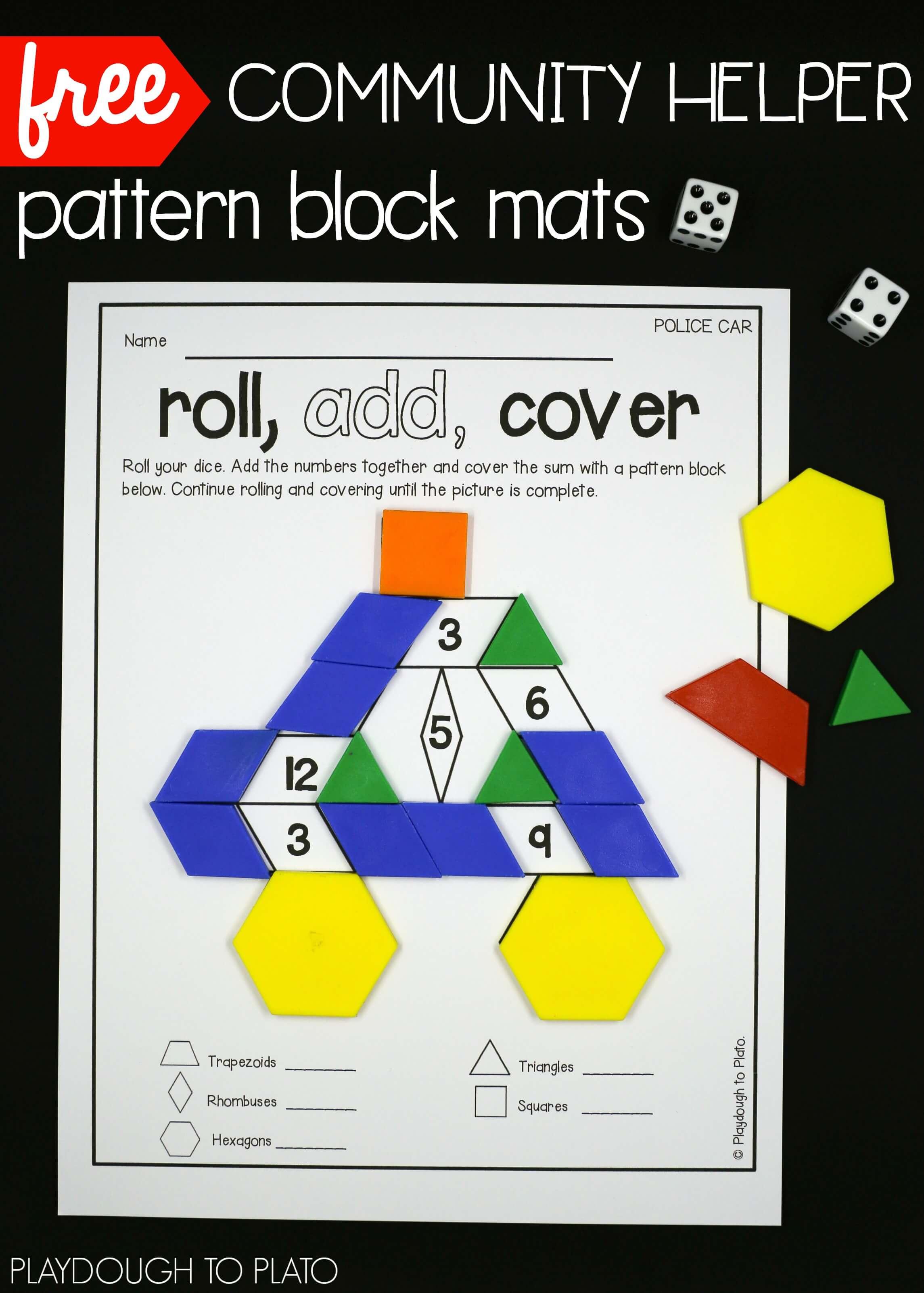 Pattern Block Mats Simple Inspiration Design