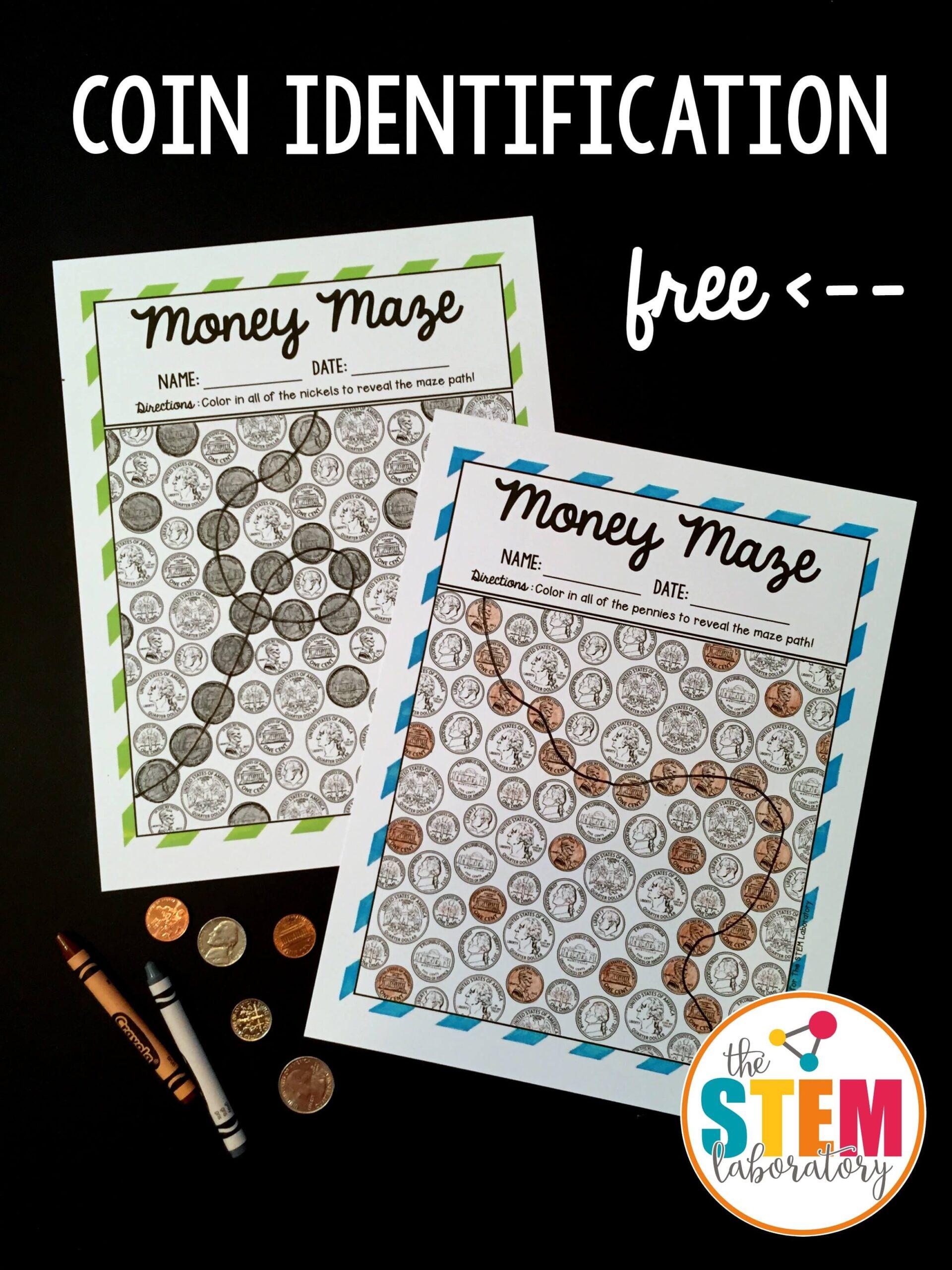 Coin Identification Money Mazes
