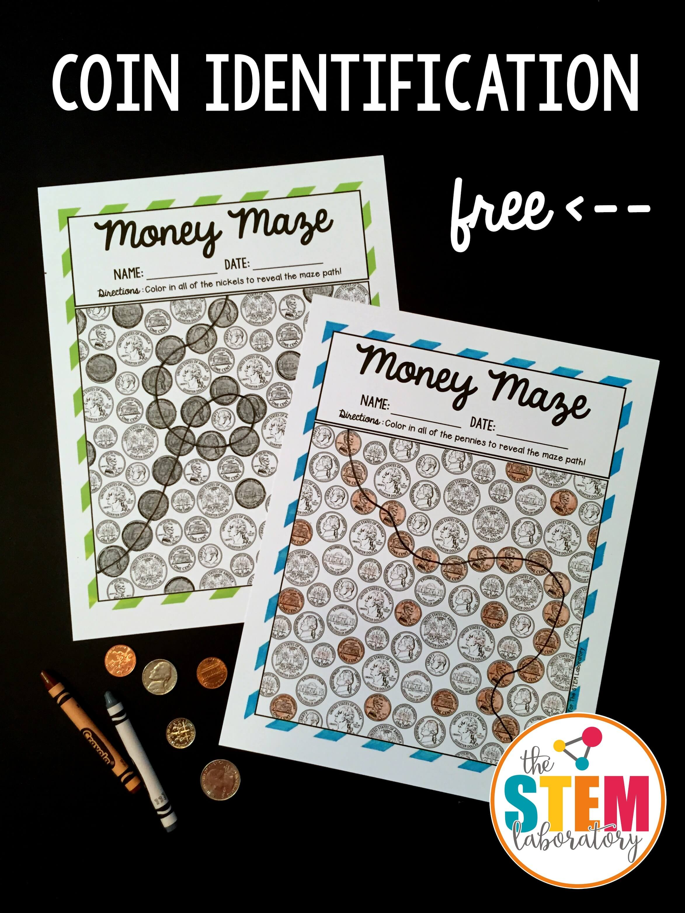 Coin Identification Money Mazes The Stem Laboratory