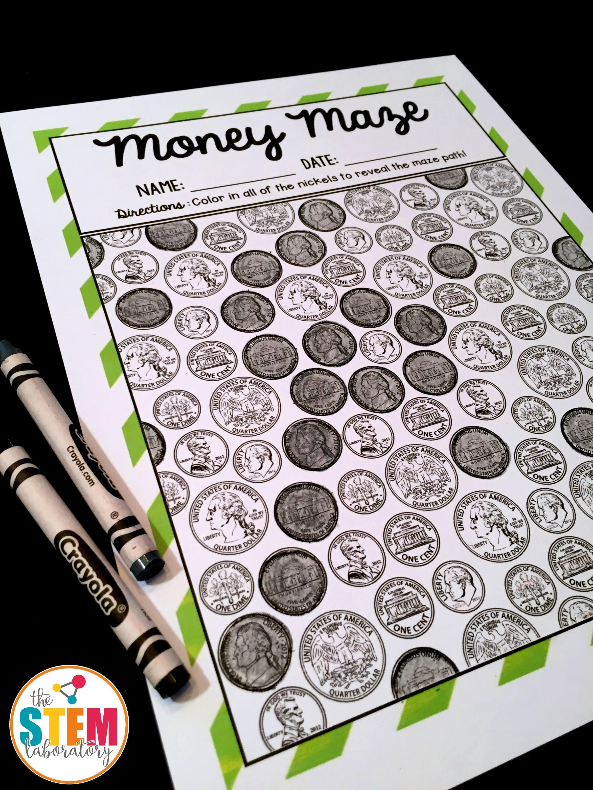 coin identification money mazes the stem laboratory