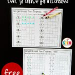 Gingerbread Ten Frame Printables