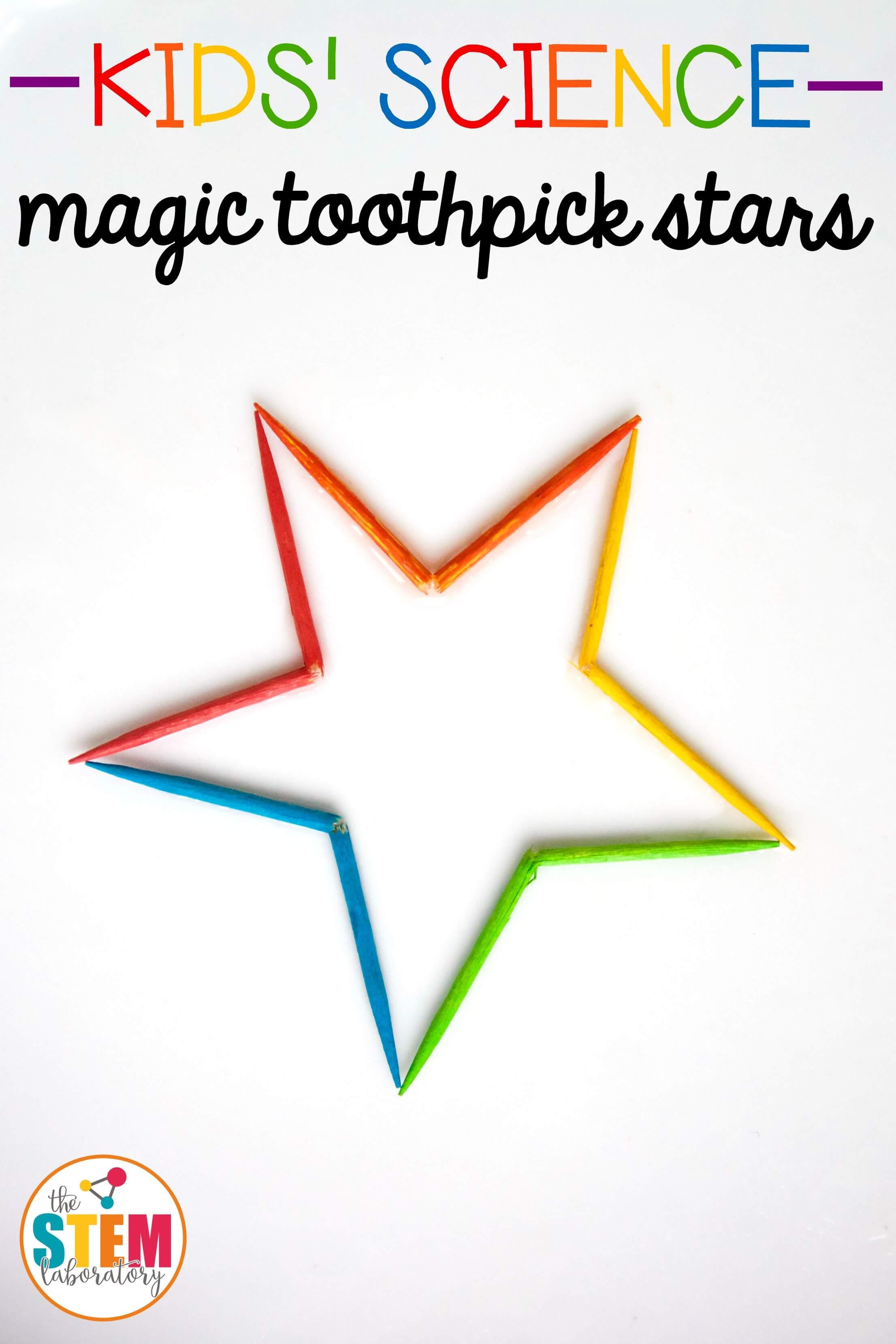 magic rainbow toothpick star the stem laboratory