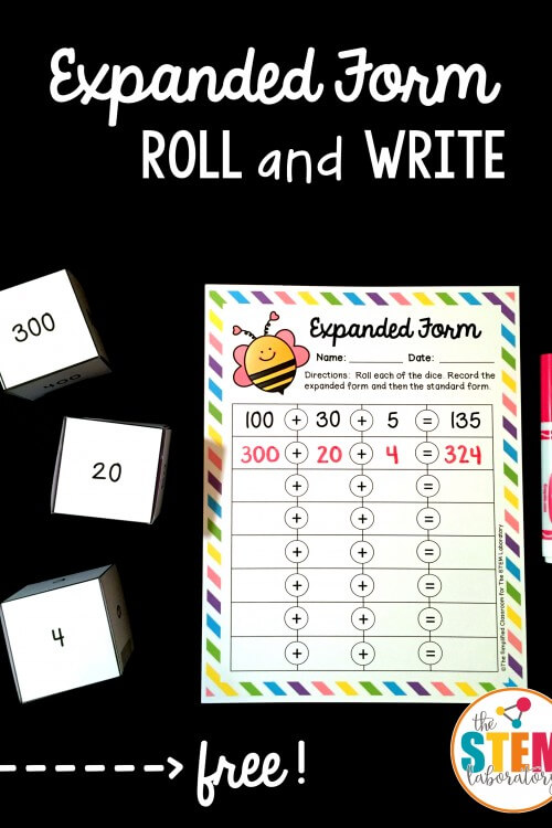 Expanded Form Roll and Write