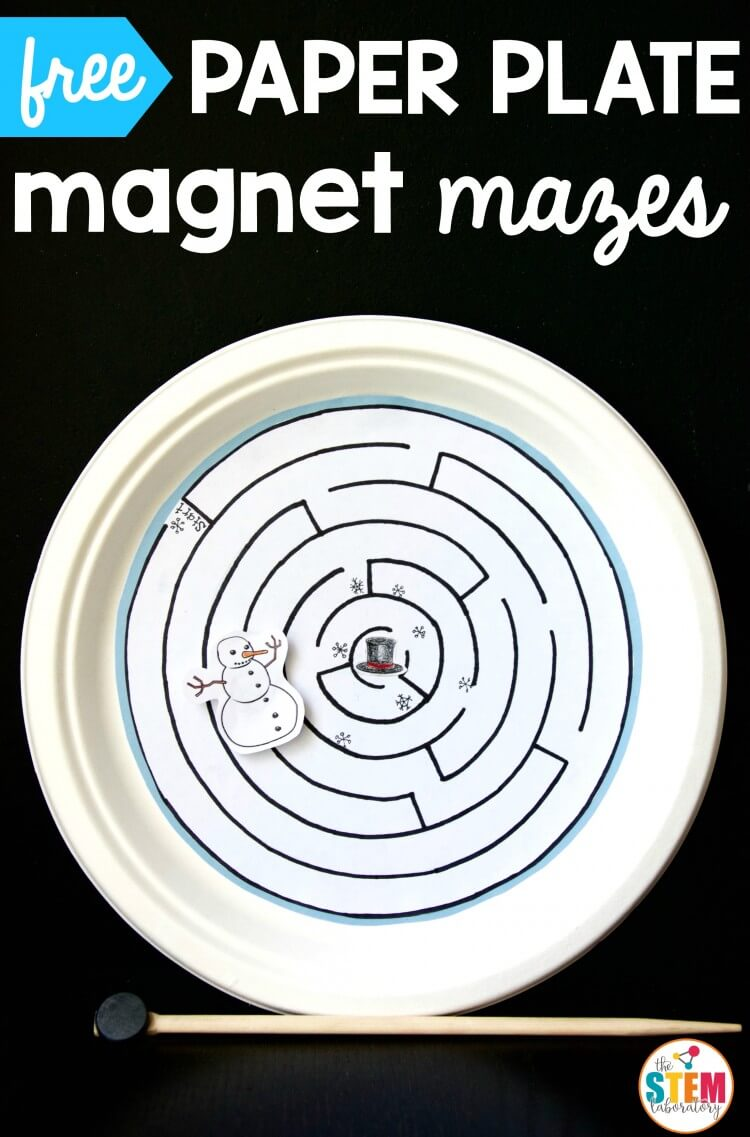 free-paper-plate-magnet-mazes