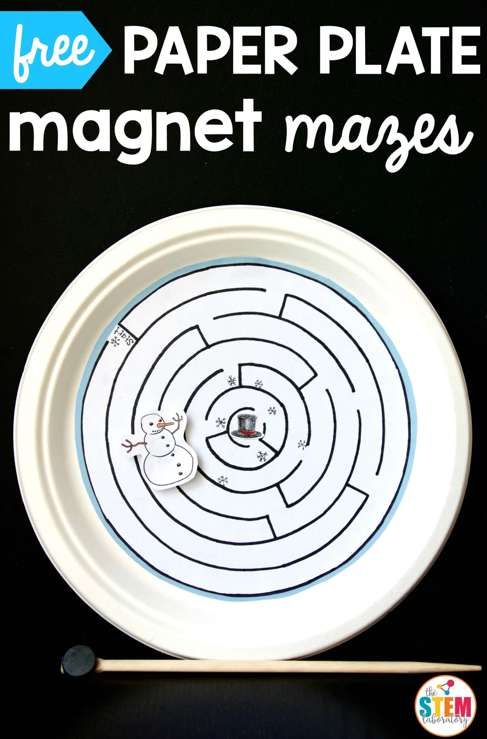 Magnetic Paper Plate Maze The Stem Laboratory