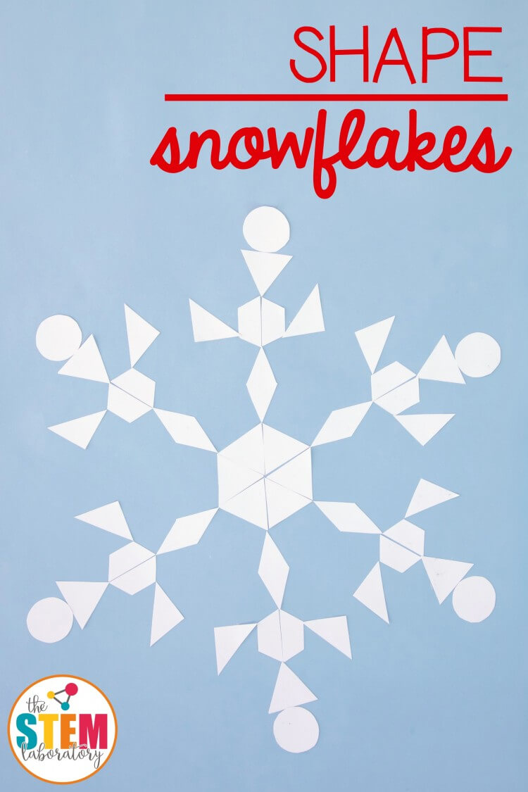 Awesome shape snowflakes. Craft and math in one!