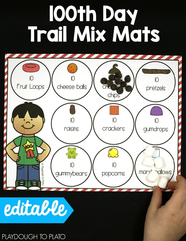 100th Day Of School Activities Editable The Stem