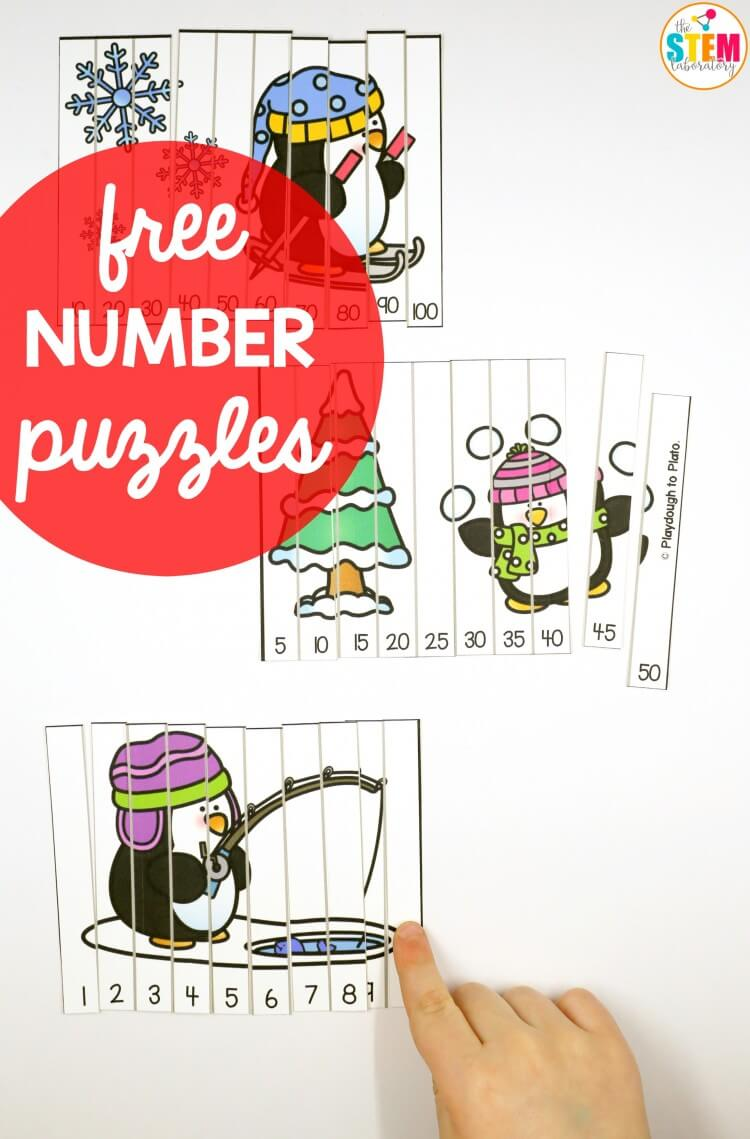 Free penguin number puzzles!