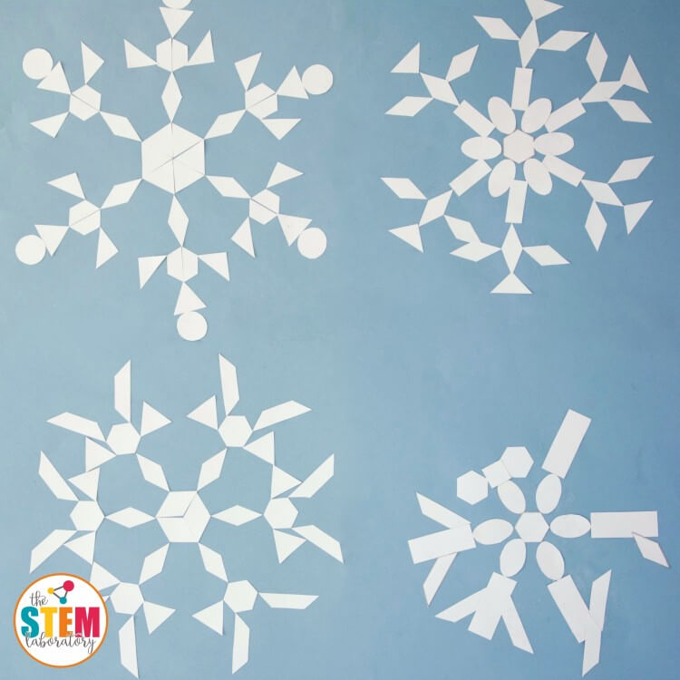 Fun winter math activity! Snowflake geometry.