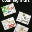 Playdough counting mats for the numbers 0-10!