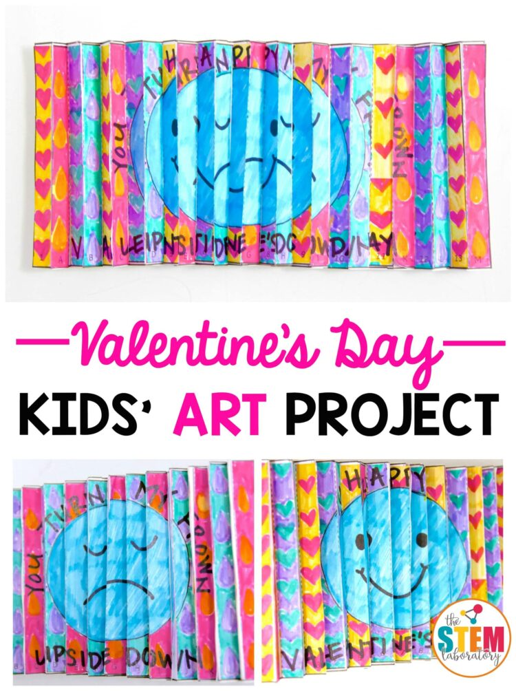 Valentine's Day art project for kids! Make agamographs.
