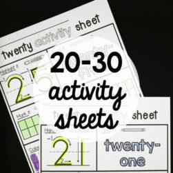 20-30 Activity Sheets!