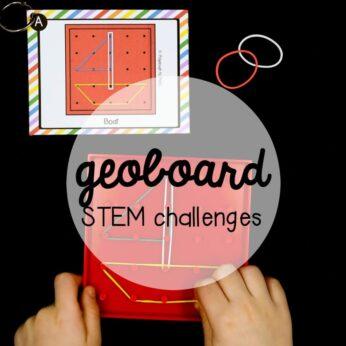 Geoboard STEM challenges!