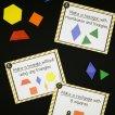 Pattern block STEM challenge for kids!