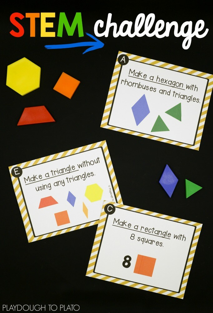 Stem Challenge Pattern Blocks on Pattern Worksheets For Second Grade