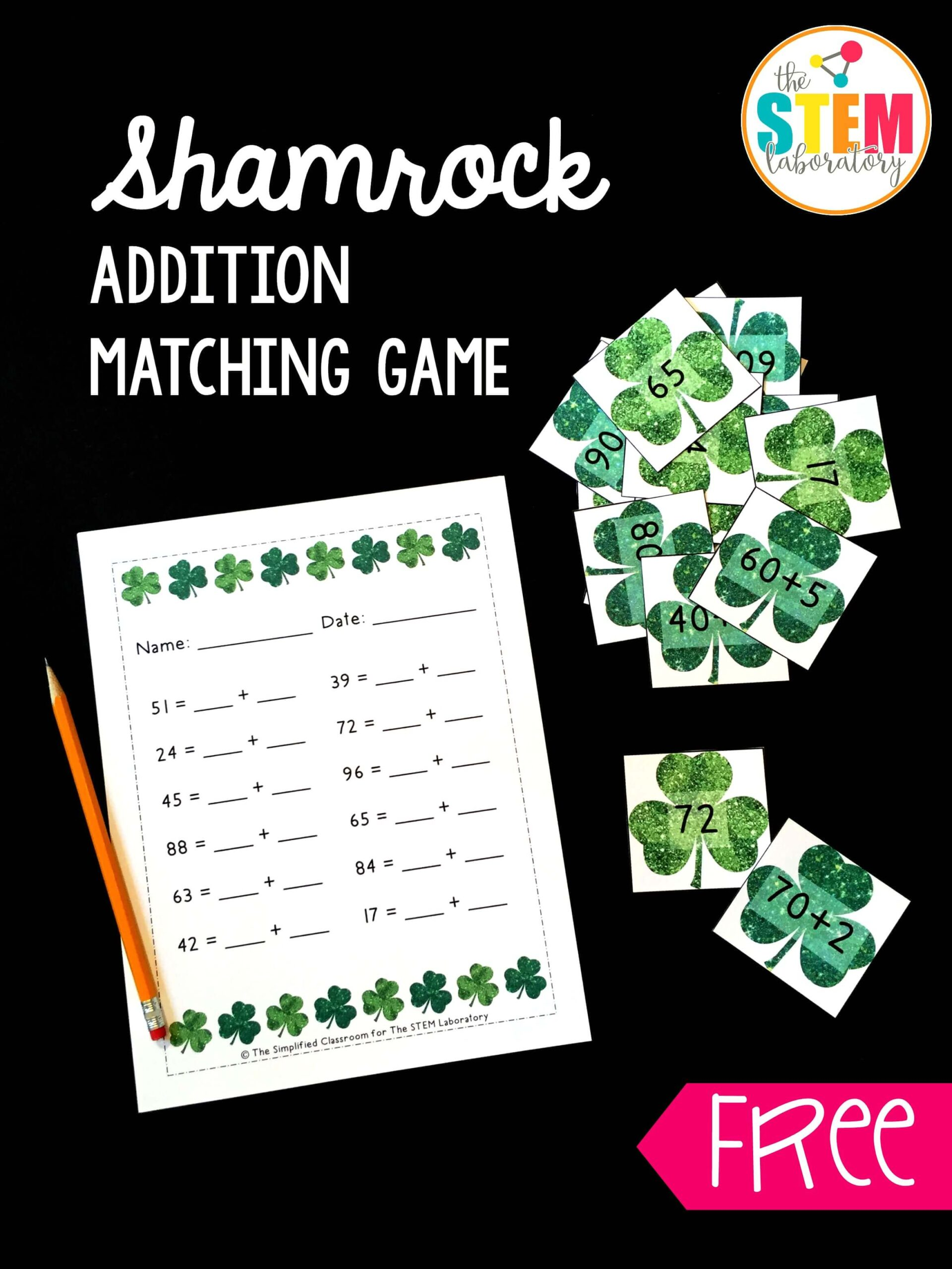 Shamrock Addition Game