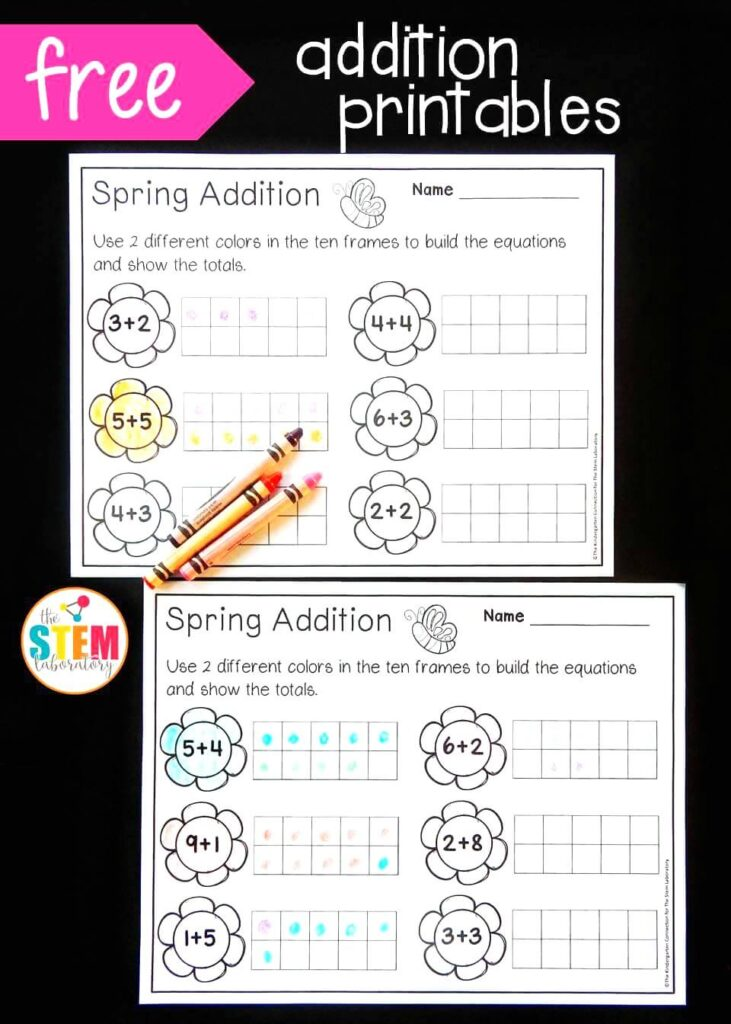 picture about Free Printable Ten Frames titled Spring 10 Body Addition - The Stem Laboratory