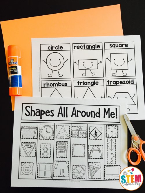 2d Shapes Sorting Activity The Stem Laboratory