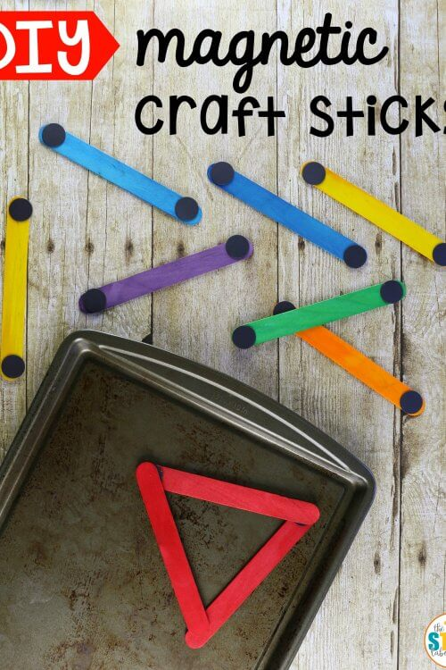 DIY Magnetic Craft Sticks