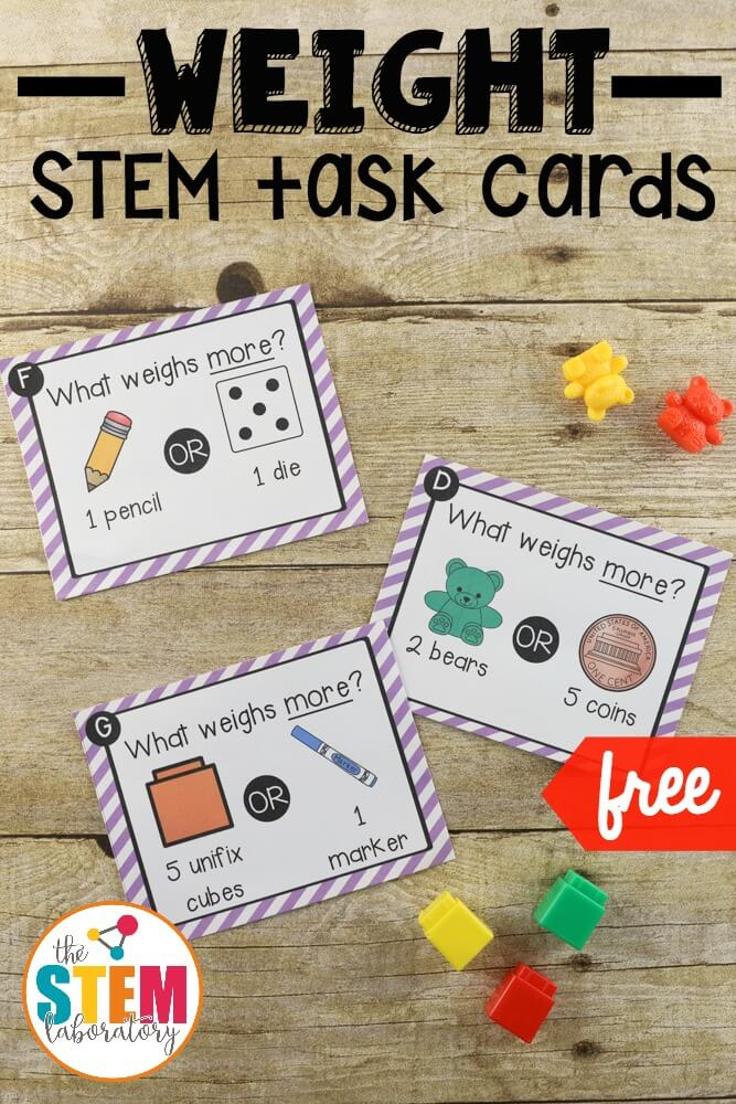 Weight Stem Challenge Cards The Stem Laboratory