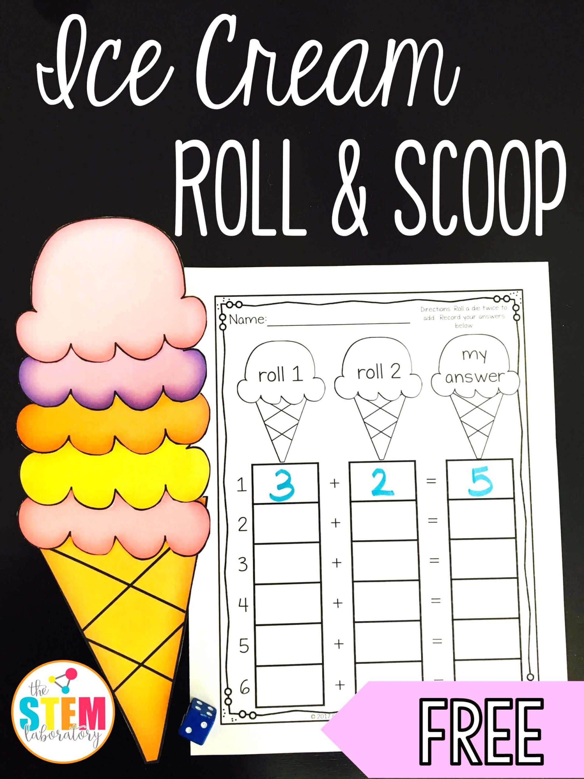 Ice Cream Roll and Scoop