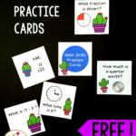 Cactus Math Skills Practice Cards