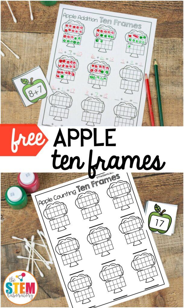 Apple Ten Frames The Stem Laboratory