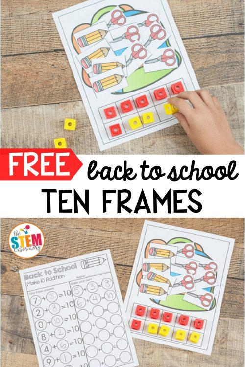 Back to School Ten Frames