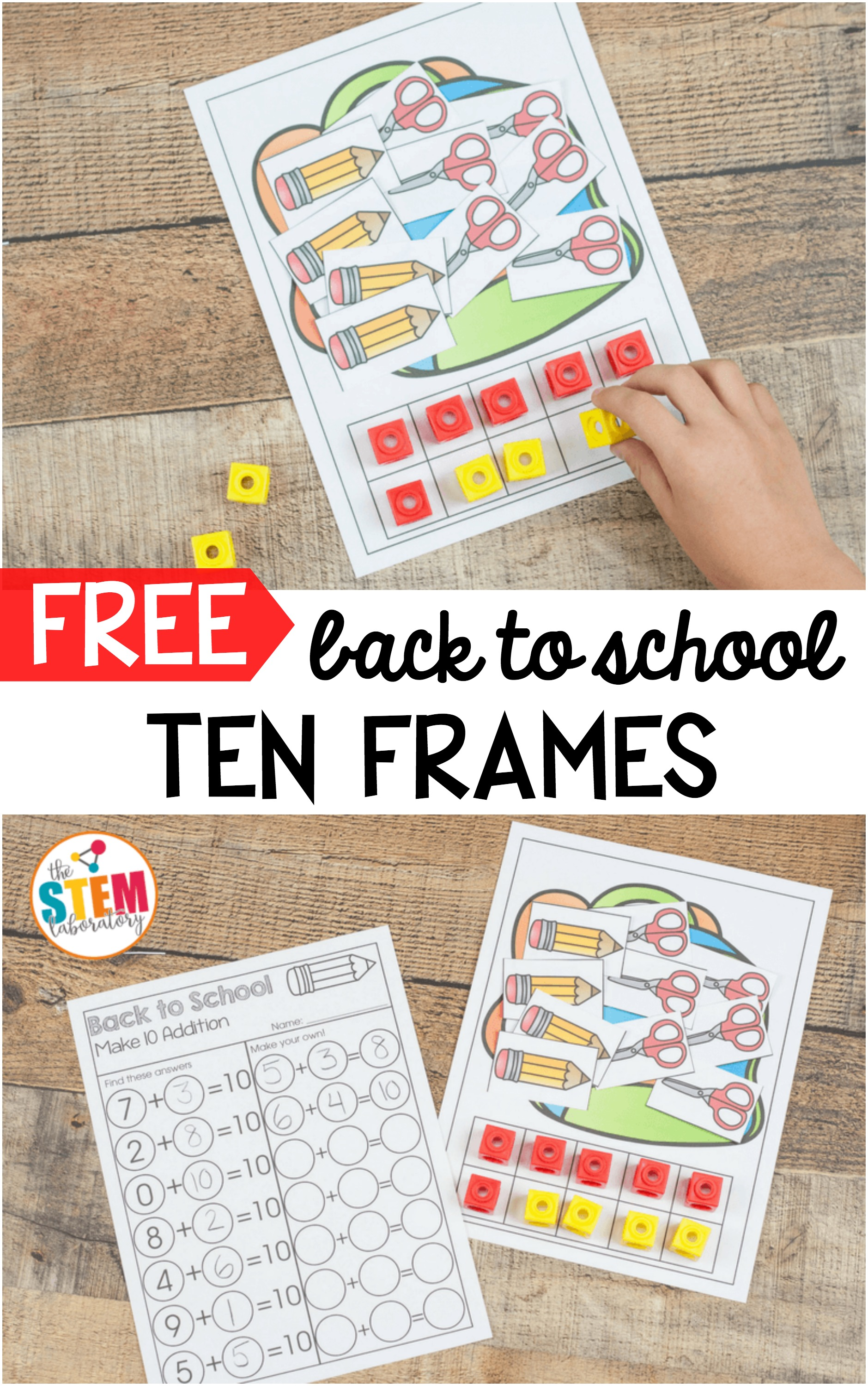 Back to School Ten Frames - The Stem Laboratory