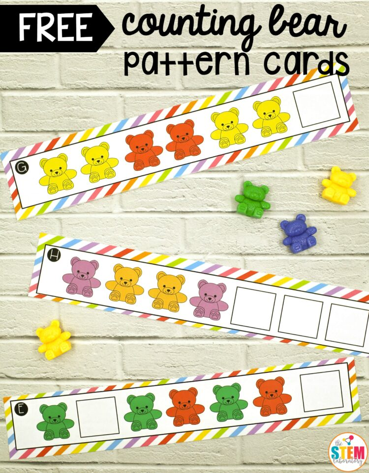 Counting Bear Pattern Cards The Stem Laboratory Adorable Bear Pattern