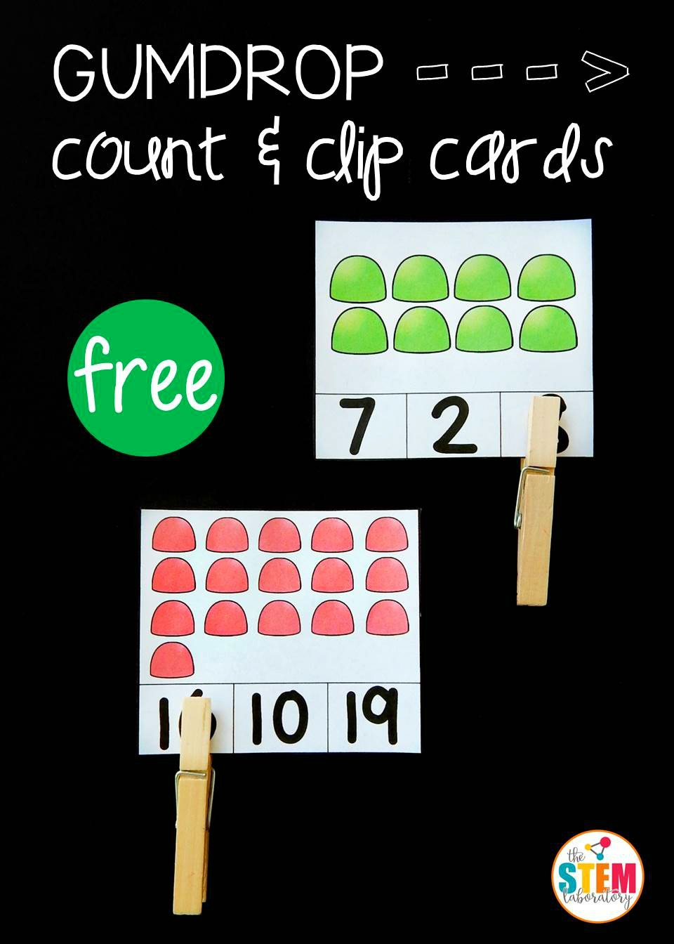 Gumdrop Count and Clip Cards