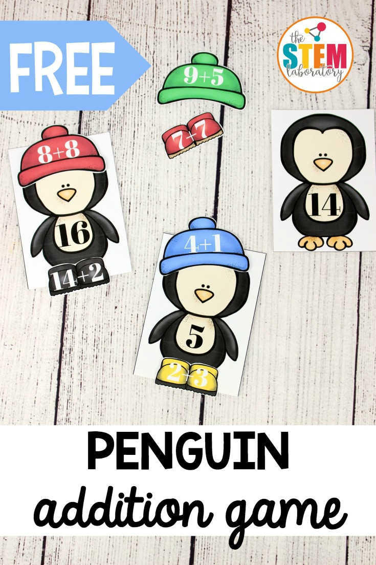 Dress the Penguin Addition Practice 1-20