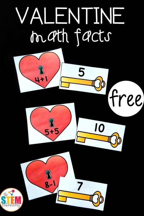 Valentine Math Fact Match