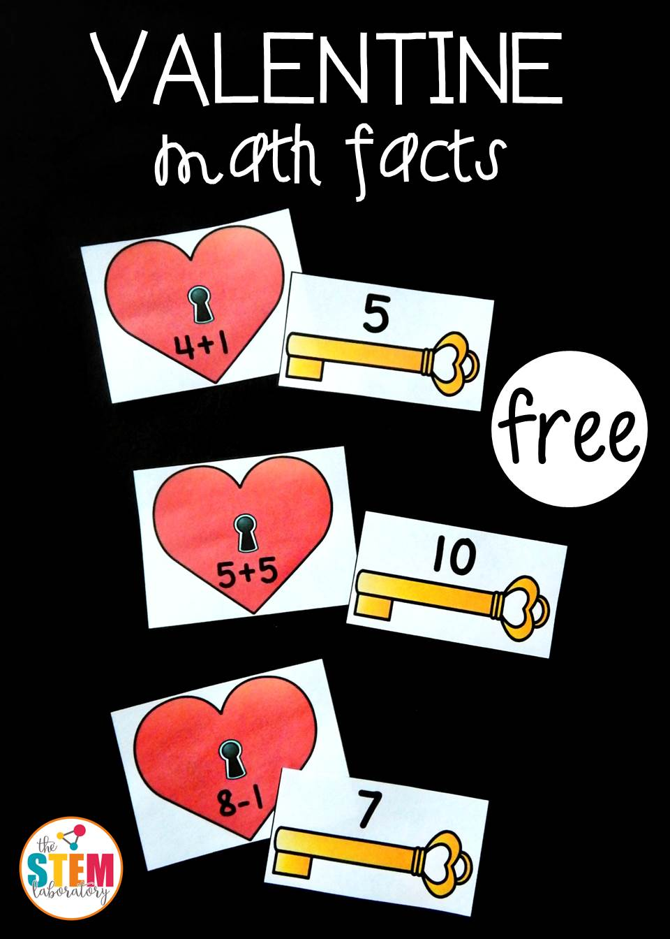 Valentine Math Fact Match