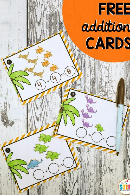 Dinosaur Addition Cards