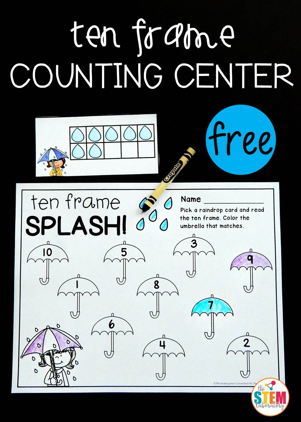 Raindrop Ten Frame Counting Center